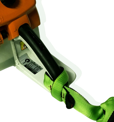 Heavy duty lanyard on chainsaw Stihl MS661