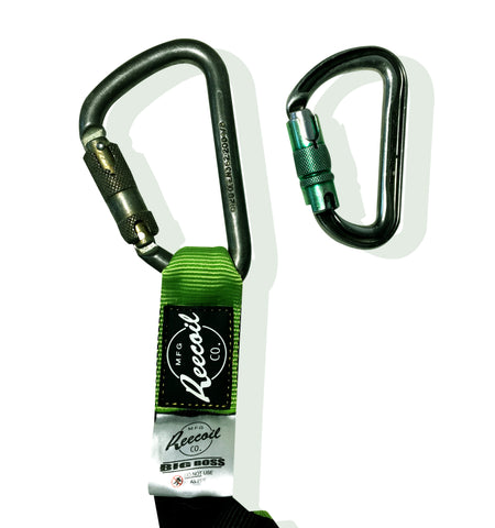 Heavy duty lanyard with big steel carabiner