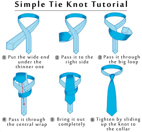 How to tie a tie it is time to pull down the wider end of tie in order to tie the knot make some adjustments and it is all done ccuart