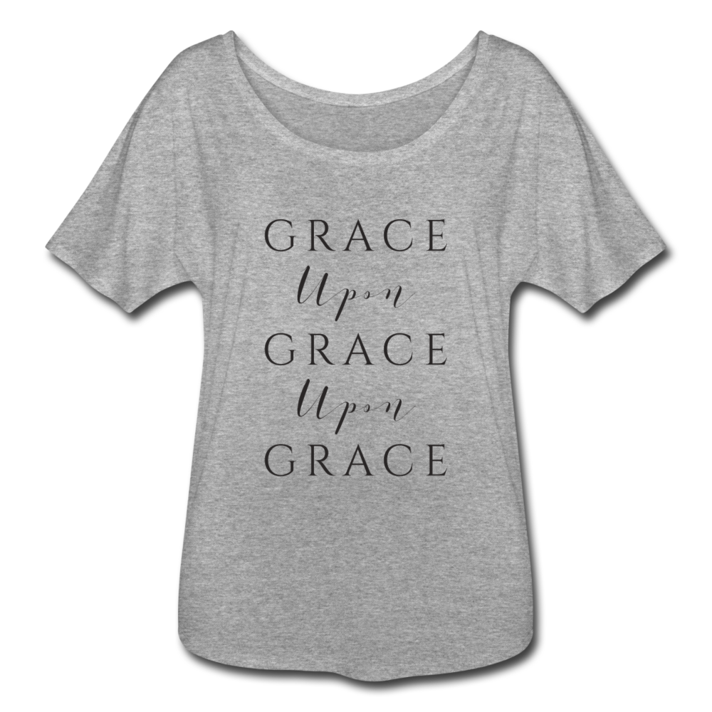 Grace Upon Grace Women's Flowy T-Shirt - heather gray