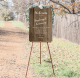 Unplugged Wedding Ceremony Sign - Rustic Wood