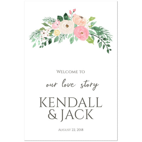 Wedding Welcome Sign - Spring Bloom