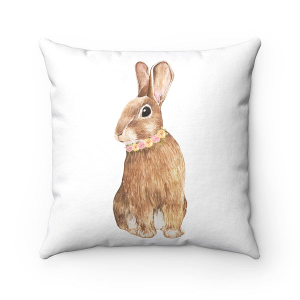 Spring Floral Rabbit  Pillow