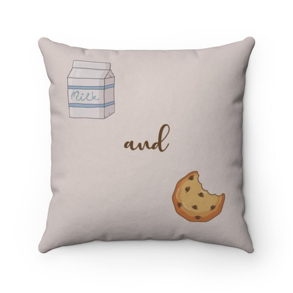 Milk and Cookies Square Pillow