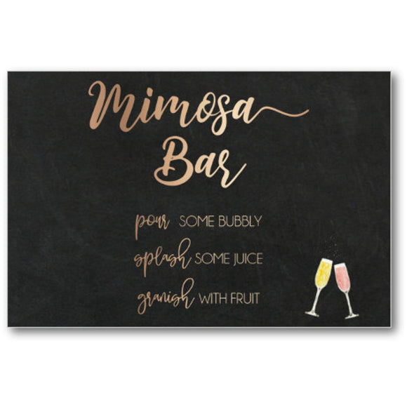 Mimosa Bar Chalk Board Gold