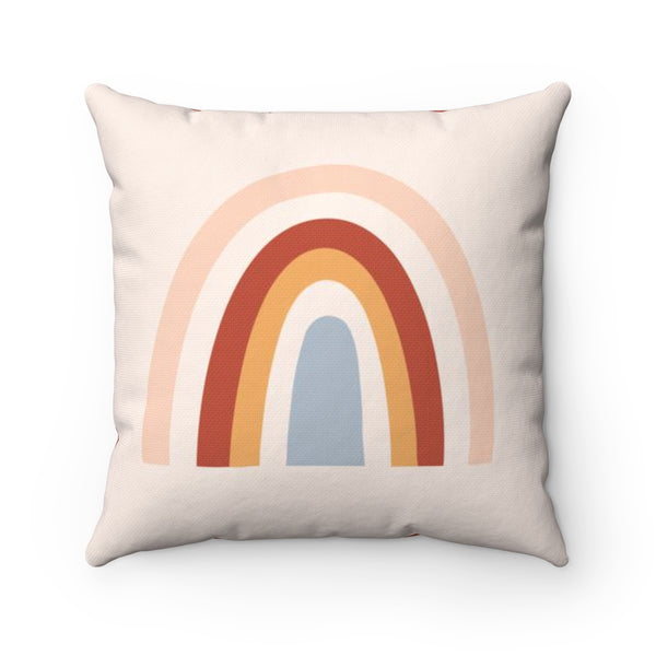 Boho Rainbow Square Pillow
