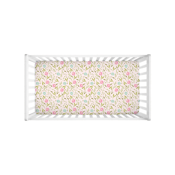 Spring Flowers Crib Sheet