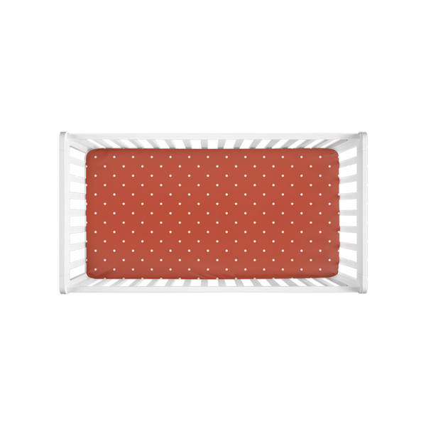 Brick Polka Dots Crib Sheet
