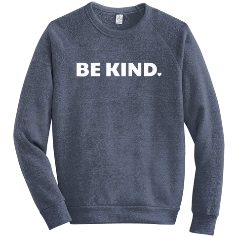 Be Kind Eco-Fleece Sweatshirt - white