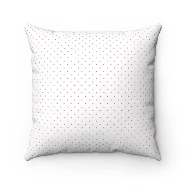 Watercolor Pink Rose Square Pillow