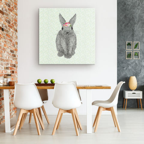 Moons & Stars Crowned Bunny Gallery Canvas Wrap
