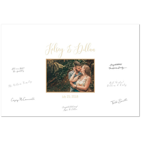 White and Gold Guest Book Sign