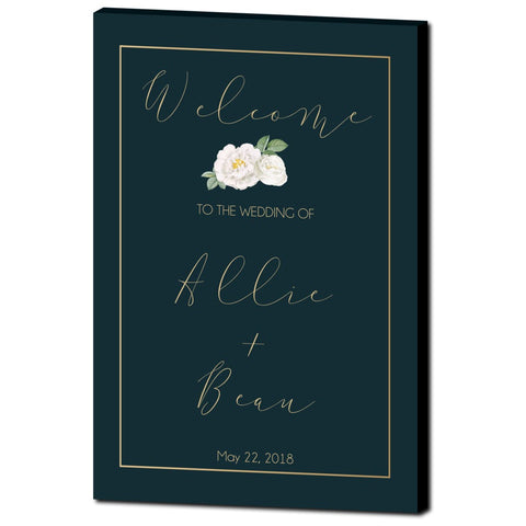 Blue Nile Wedding Welcome Sign