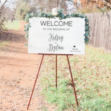 Distressed White Wood Wedding Sign