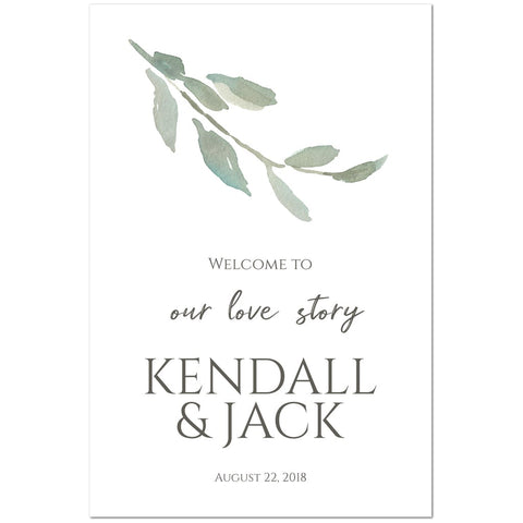 Wedding Welcome Sign- Sage