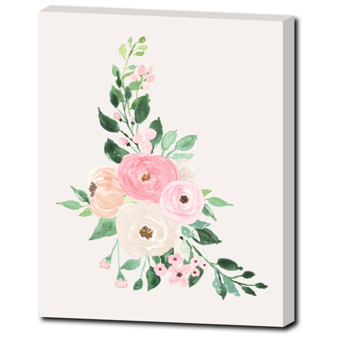 FLORAL MONOGRAM CANVAS Canvas Set os 3 - Addison Collection