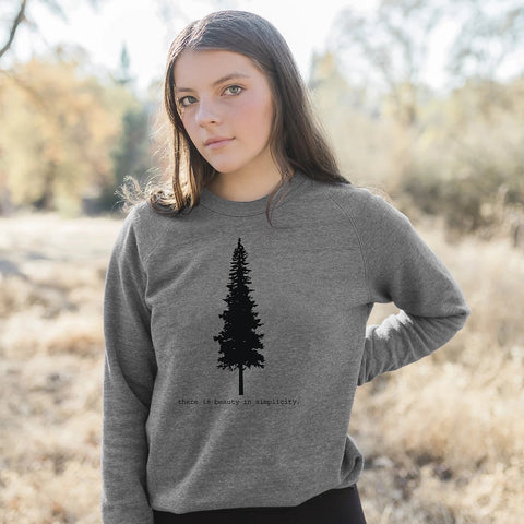 There is Beauty in Simplicity Eco-Fleece Sweatshirt
