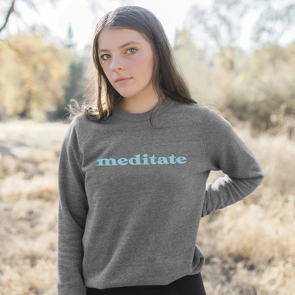 Meditate Eco-Fleece Sweatshirt