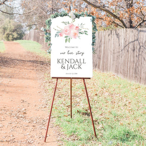 Wedding Welcome Sign - Blush