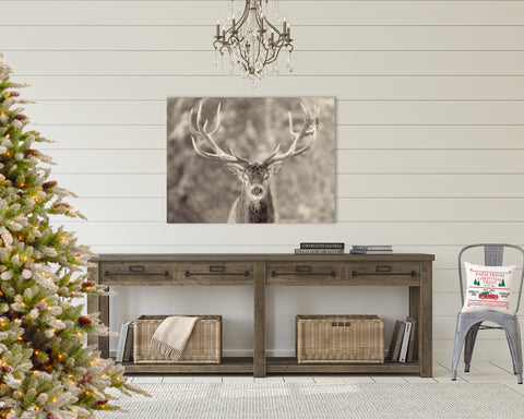 Snowy Reindeer Gallery Wrapped Canvas