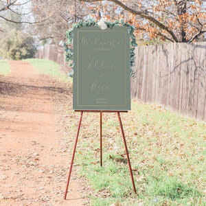Allie Sage Wedding Welcome Sign