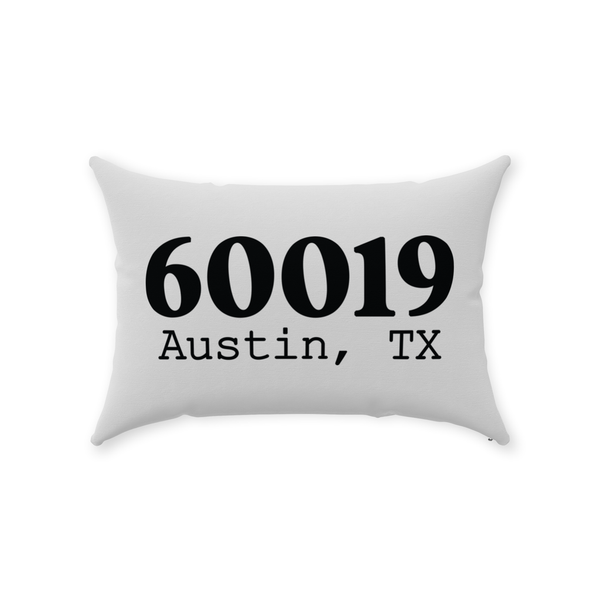 Zip Code Throw Pillow - Style 1