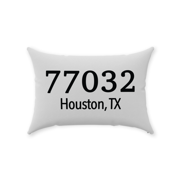 Zip Code Throw Pillow - Style 2