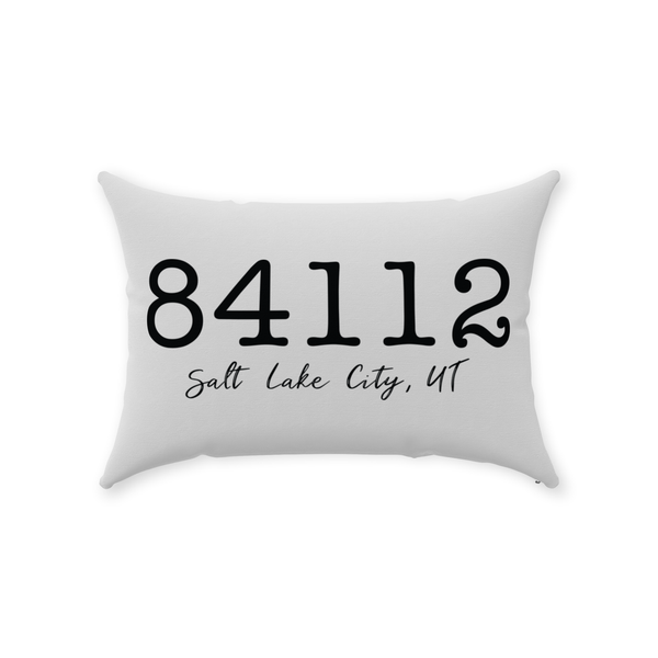 Zip Code Throw Pillow - Style 3