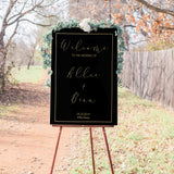 Allie Elegant Wedding Welcome Sign