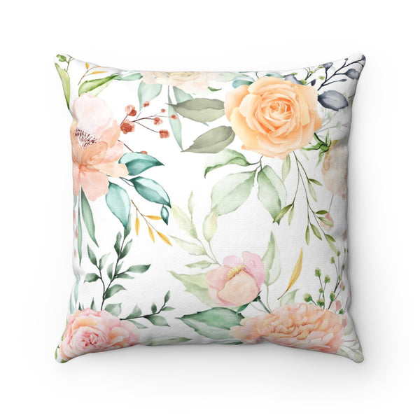 Floral Spring Wreath Pillow
