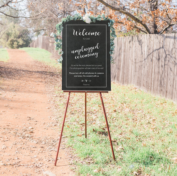 Unplugged Wedding Ceremony - Chalkboard Style