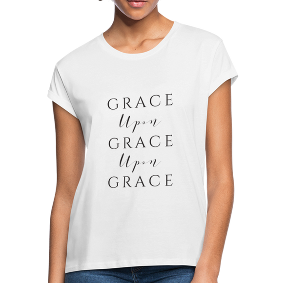 Grace Upon Grace Women's Relaxed Fit T-Shirt - white