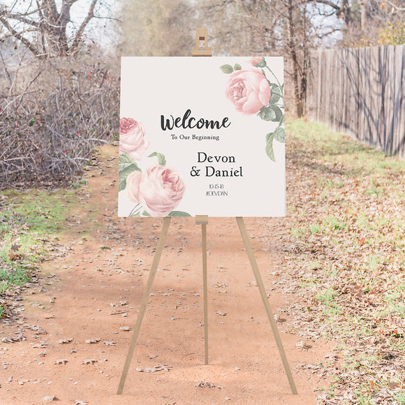 Devon Wedding Welcome Sign