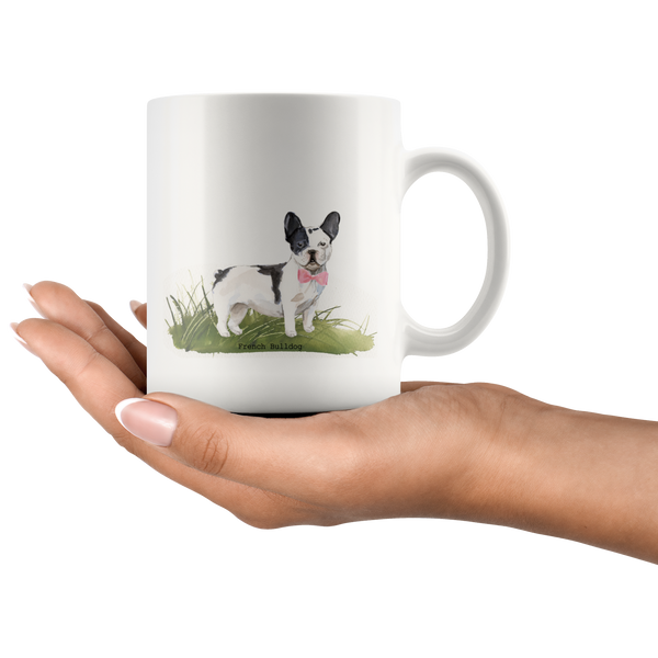 French Bulldog with Bow Coffee Mug