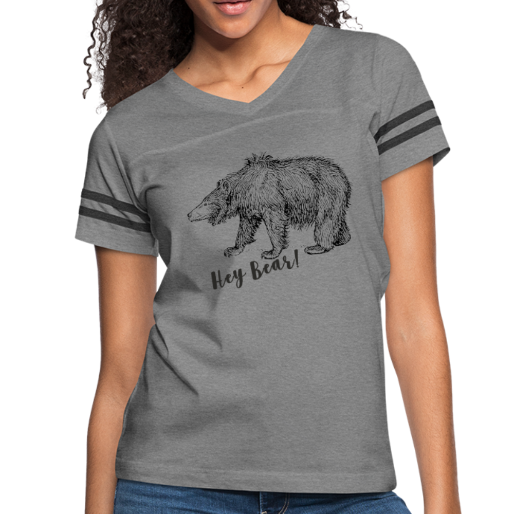 Hey Bear! Women's Vintage Sport T-Shirt - heather gray/charcoal