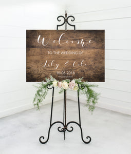 Rustic Wedding Welcome Sign - Vol. 1