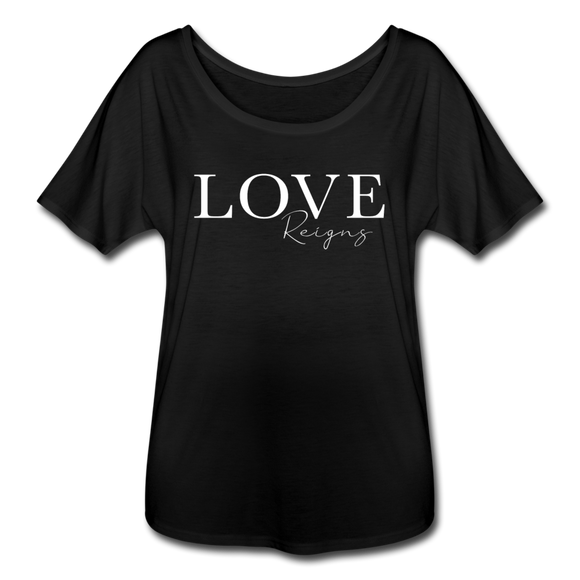 Love Reigns Women's Flowy T-Shirt - black