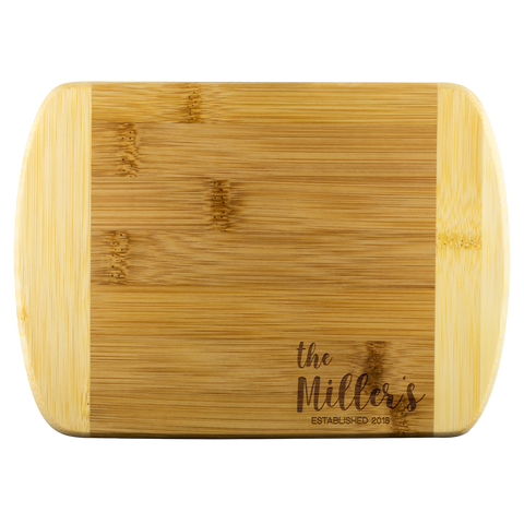 Personalized Organic Bamboo Cutting Board
