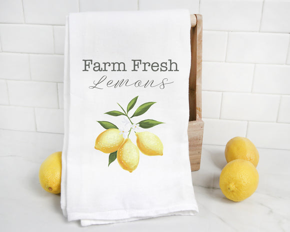 Farm Fresh Lemons Tea Towel