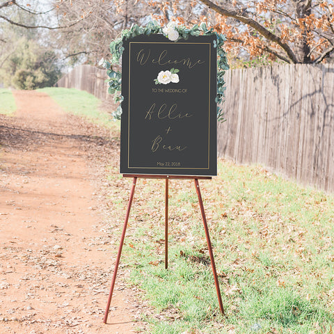Grayson Wedding Welcome Sign