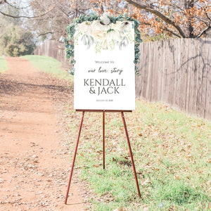 Wedding Welcome Sign - Magnolia