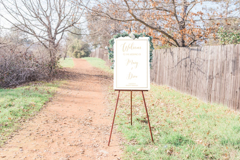 Macy Elegant Wedding Welcome Sign