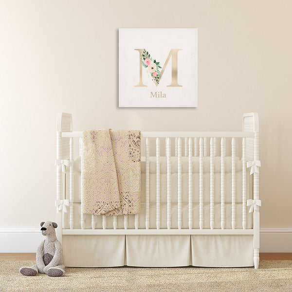 FLORAL MONOGRAM CANVAS - MILA FLORAL COLLECTION