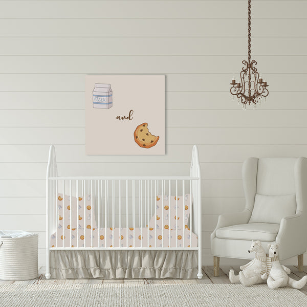 Cookies & Milk Crib Sheet