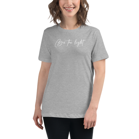 Be the Light Women's Relaxed T-Shirt - white