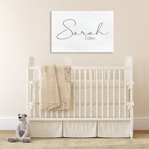 Classic Nursery Wall Art Name Sign