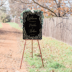 Natalie Wedding Welcome Sign in Ebony