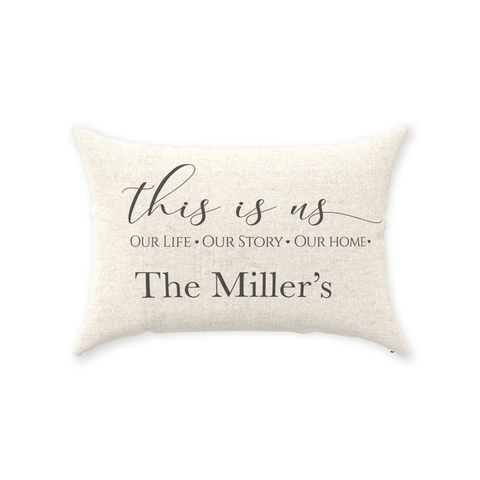 This is Us Personalized Throw Pillow
