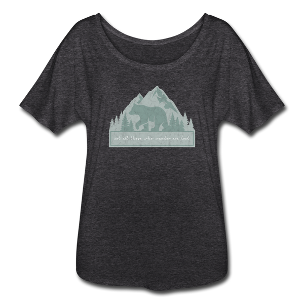 Wander Women's Flowy T-Shirt - charcoal gray