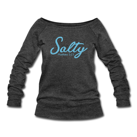 Salty Women's Wideneck Sweatshirt - heather black